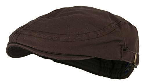 Men's Cotton Flat Cap Ivy Gatsby Newsboy Hunting Hat, Brown, One - Cap Ivy Flat
