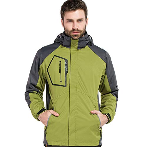 Pêche Imperméable Sportswear Coupe Extérieur Épaissir Hommes Alpinisme vent De Green Deux Amovible Gjfeng pièces Ski Pour Veste Combinaison Light q00CZ
