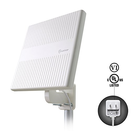 Antop Outdoor Flat Panel Outdoor HDTV Antenna  AT-413B with Omni-directional Reception for FM/VHF/UHF