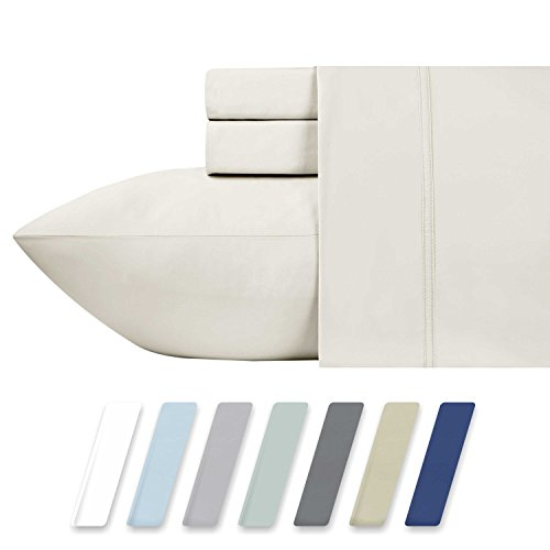 600 Thread Count Best Bed Sheets 100% Cotton Sheets - Ivory