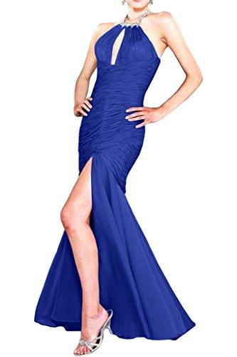 Avril Robe De Soirée Captivante Licol Belle Dos Robe De Mousseline De Vase De Bal Bleu Royal