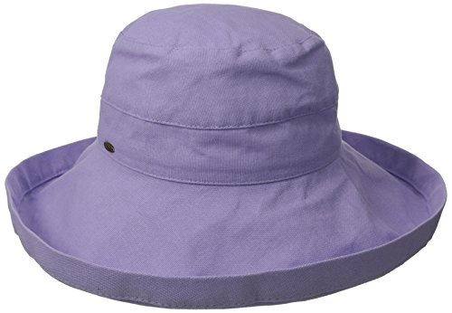 Scala Women's Cotton Hat with Inner Drawstring and Upf 50+ Rating,Lavender,One Size