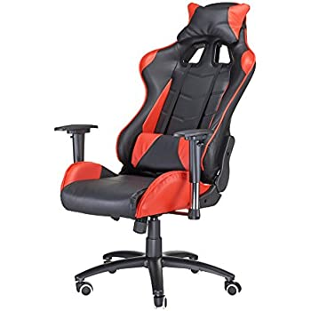 Nice Pinty Red And Black Adjustable Recliner High Backrest PC Gaming Desk Chairs