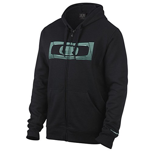 Oakley Mens The Hype Fleece Hoody Zip Sweatshirt Medium Jet Black