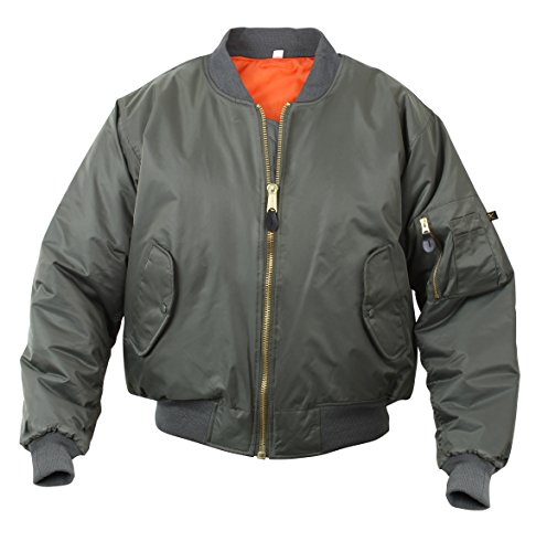 Rothco %Rothco Ma-1 Flight Jacket-Sage, Medium (Jacket Ma 1 Reversible Flight)