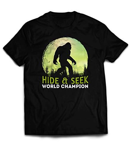 - Market Trendz Hide and Seek Sasquatch Bigfoot T-Shirt Hide and Seek World Champion Bigfoot Funny Shirt Sci-Fi Medium