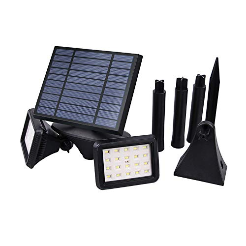 IP54 Luz solar 2 luces Radar Inducción Apliques de pared Exterior Impermeable Super luminoso Patio Pluggable Césped Calle...