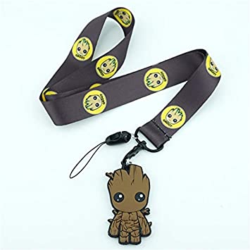 Guardianes De La Galaxy Groot Tree Man Bebé Lanyard Black ID ...