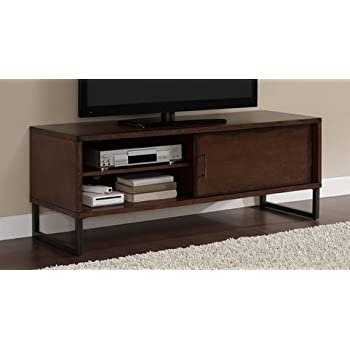 breckenridge walnut 50 inch flat screen tv stand media storage cabinet entertainment. Black Bedroom Furniture Sets. Home Design Ideas