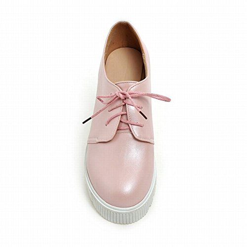 ... Latasa Kvinners Blonder-up Plattform Inne Wedge Oxfords Sko Rosa ...