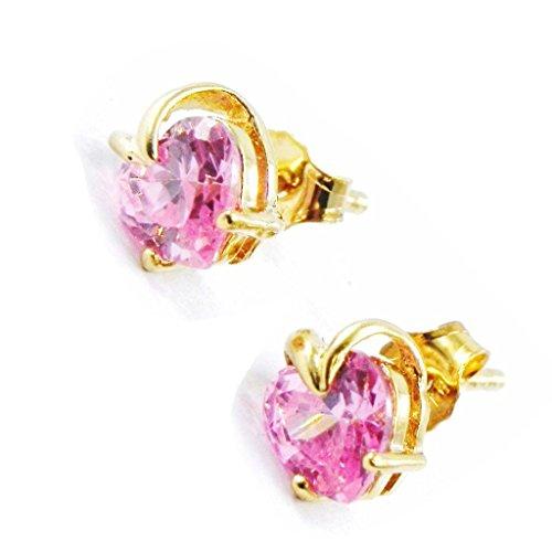 Reverence Costumes (Earrings 'Coeur Reverence' pink.)