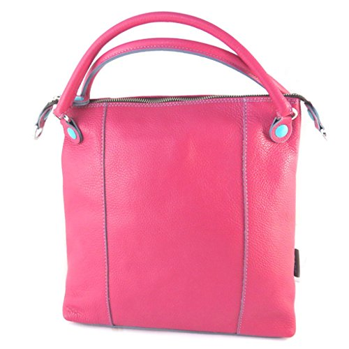 In pelle progettista bag Gabsfucsia (m)- 30x30x13 cm.