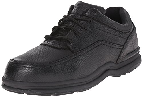 Eye Tie Shoe - Rockport RK6761 World Tour 5 Eye Tie Casual Moc Toe Steel Toe Oxford Black 11.5 M US