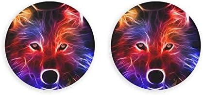 Abridores de botellas redondos Wolf 3d / Imanes de nevera Sacacorchos de acero inoxidable Etiqueta magnética 2 piezas