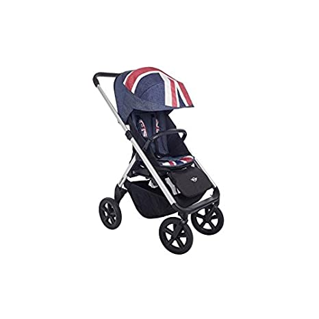 Easywalker - Tapizado para silla new mini stroller design set union jack denim marino: Amazon.es: Bebé
