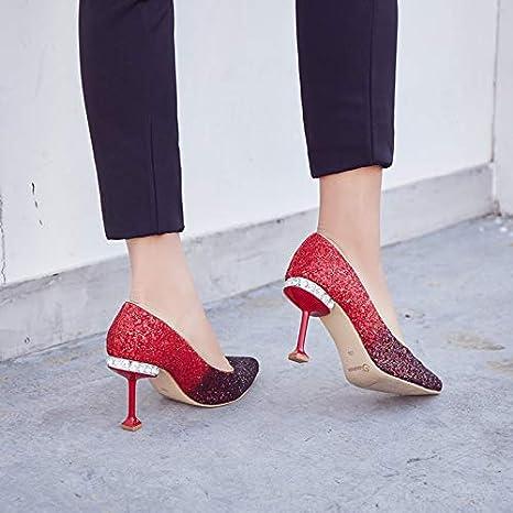 HOESCZS Spitze Pailletten Schuhe Mit Hohen Absätzen Gradient Strass Hochzeit Schuhe Weibliche Stiletto Heels GDXVFASE