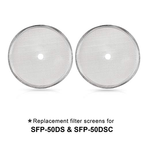 Secura French Press Coffee Maker Replacement Filter Screen (2pack) Mesh for 51 Ounce, 1.5 Liter, 12 Cup Stainless Steel Reusable Filter