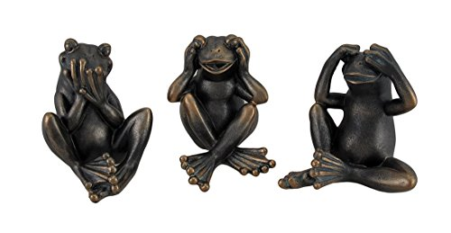 Set of 3 Hear See Speak No Evil Sitting  - Frog Bookcase Shopping Results
