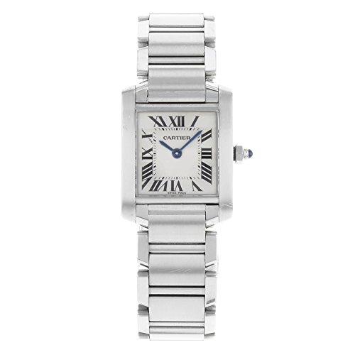 Cartier Women's W51008Q3 Tank Francaise Stainless Steel Bracelet Watch (Watch Women Tank Cartier)