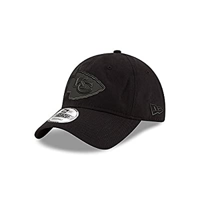 Kansas City Chiefs Black on Black 9TWENTY Adjustable Hat / Cap by New Era