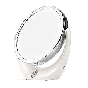 Broadcare espejo de maquillaje con luces led 1x 5x de - Espejo de viaje ...