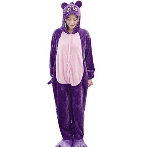 Qushy Unisex Adult Pajamas - Plush One Piece Cosplay Sailor Moon Cat Luna Animal Costume ()