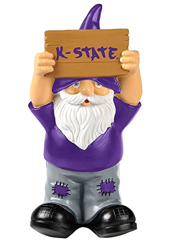 Elite Fan Shop Kansas State Wildcats Garden Gnome - Purple