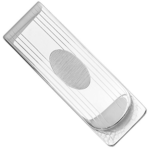 Sterling Silver .925 Money Clip, Hand Polished, Solid Elegant Design, Engravable, Designed and Made In Italy. By Sterling Manufacturers
