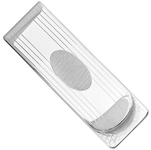 Sterling Silver .925 Money Clip, Hand Polished, Solid Elegant Design, Engravable, Designed and Made In Italy. By Sterling Manufacturers by Sterling Manufacturers