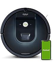 iRobot Roomba 981 robot odkurzający z 3-stopniowym systemem sprzątania, mapowanie pomieszczeń, tryb Carpet Boost, 2 szczotki główne do wszystkich powierzchni, łączność z aplikacją