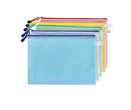 bolsas de papel A3//A4//A5//B4//B5//B6//B8 B6 Bolsa de malla para documentos con cremallera de pl/ástico paquete de 12 bolsas para archivos bolsas de almacenamiento 13.5CMx19.5CM Simple Culture