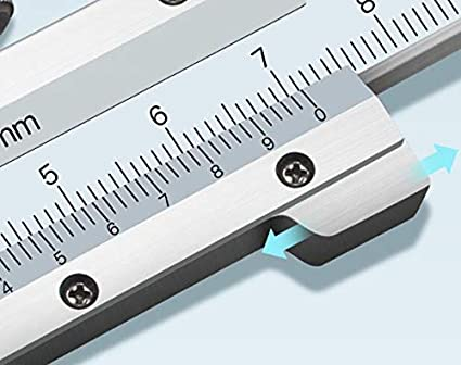 MeterTo 12/° Inclined Plane Precision Vernier Calipers 0-150mm Accuracy 0.02 with Jaw 40mm Small Visual Error