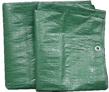 Kotap 15-ft x 25-ft Heavy-Duty 12 by 12 Cross Weave 8-mil Reversible Green/Silver Poly Tarp, Item: TGS-1525