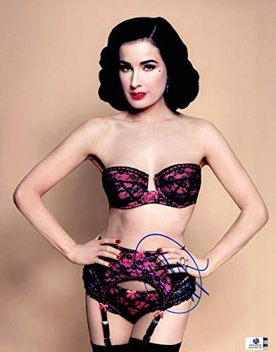 Dita Von Teese Signed Autographed 11X14 Photo Sexy Lace Lingerie GV750733