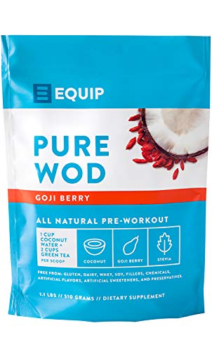 pureWOD PRE - Naturally Formulated Pre Workout Supplement, Natural Light Taste, Smooth Clean Energy, Paleo and Vegan Approved