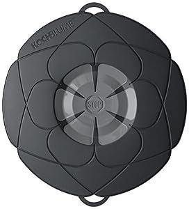 Kochblume couvercle fleur m, Silicone, noir, 29cm