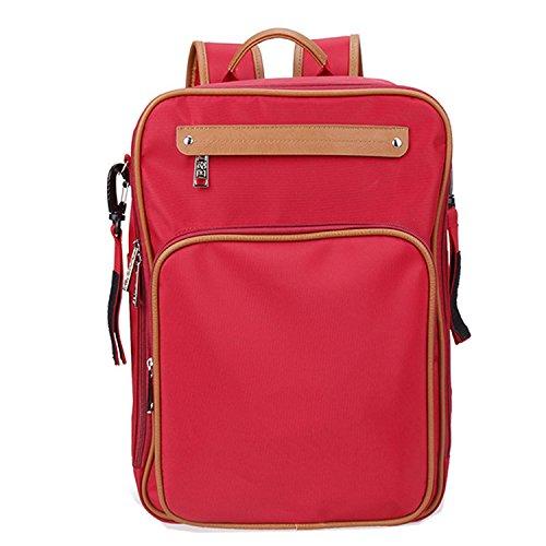 BigForest Multifunction 4pcs in 1 set Baby Diaper Nappy Changing Bag Mummy Backpack Travel Bag Tote Handbag Red
