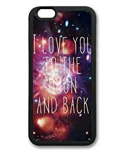 """Lilyshouse I Love You to the Moon and Back Rubber Shell with Black Edges Cover Case for Iphone 6(4.7"""")"""
