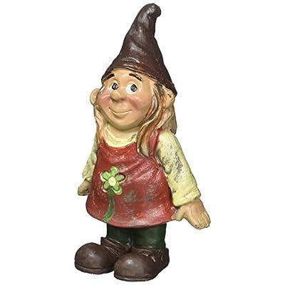 Darice 13392B Mini Garden Gnome Girl Standing Resin, 3.5