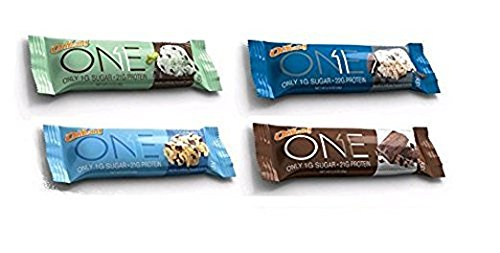 Oh Yeah! One Protein Bars Chocolate Variety Pack, 12 Bars(Mint Chocolate Chip, Cookies & Creme, Chocolate Brownie, Chocolate Chip Cookie Dough)(3 Each) Carb Control 12 Bars