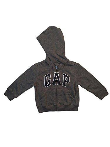 (GAP Little Boys Zip Hoodie (3, Grey))