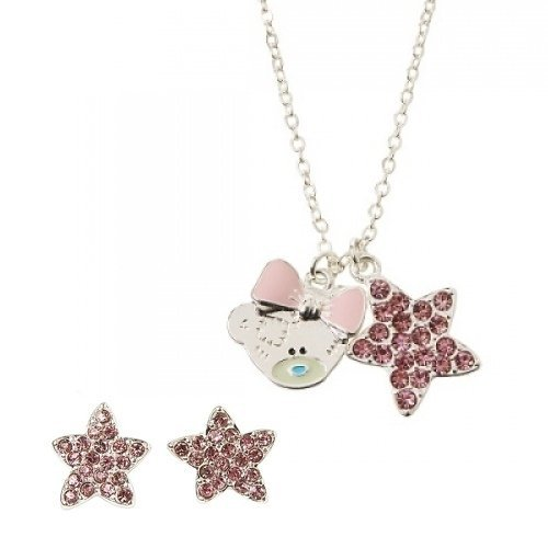 Silver Plated Teddy - Me To You Tatty Teddy Silver Plated Necklace & Earring Set