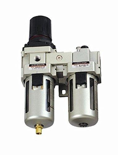 MettleAir AC4010-N06-1PK Air Filter/Regulator/Lubricator with Gauge, 3000 L/minute, 3/4' NPT 3/4 NPT