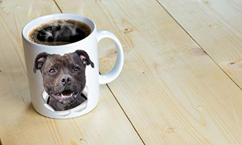 Happy American Staffordshire Terrier Mug – Staffie Ceramic Coffee Mug - Perfect Staffordshire Bull Terrier Gifts - Funny Cute Staffordshire Terrier Dog Coffee Mug for Dog Lovers and Owners (11oz) 6