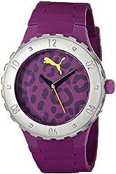 PUMA Women's PU103432001 Blast S Camo Purple Analog Display Quartz Purple Watch