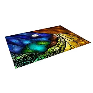 "Kess InHouse Mandie Manzano ""Psalms"" Indoor/Outdoor Floor Mat, 5-Feet by 7-Feet"