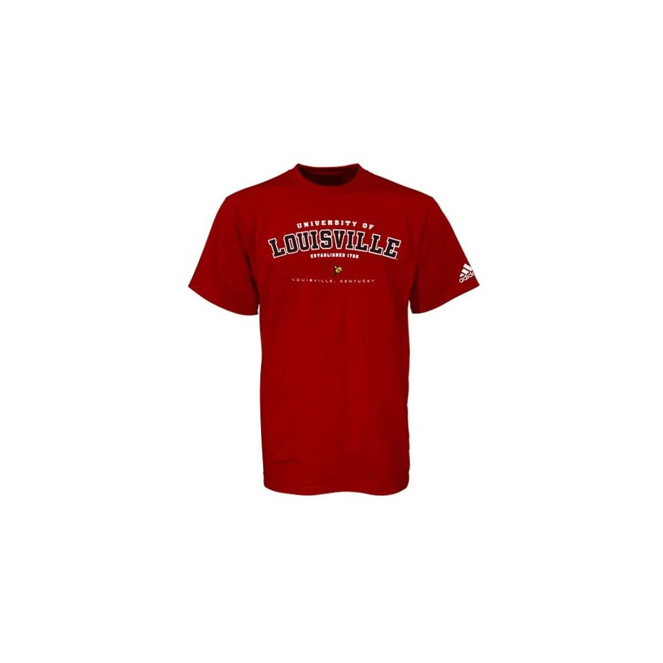 Adidas Louisville Cardinals Red Ambush T shirt