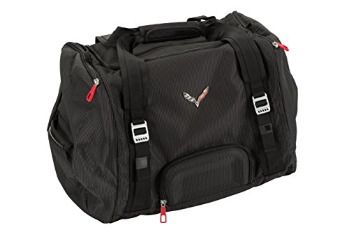 GM Accessories 23152911 70L Duffel Bag in Jet Black with Crossed Flags Logo