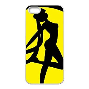 sailor moon silhouette iPhone 4 4s Cell Phone Case White Customize Toy zhm004-7407140