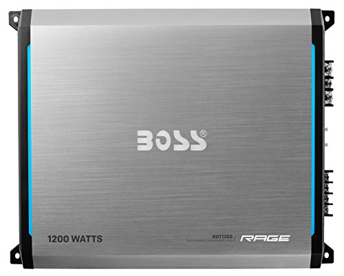 BOSS AUDIO RGT1200 Rage 1200-Watt Full Range, Class A/B 2 to 8 Ohm Stable 2 Channel Amplifier with Remote Subwoofer Level (2007 Ford Edge Price)